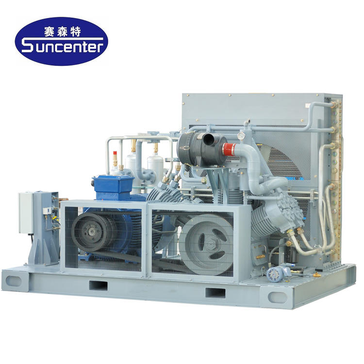 High pressure gas compressor