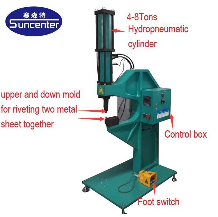 Pneumatic automatic riveting machine