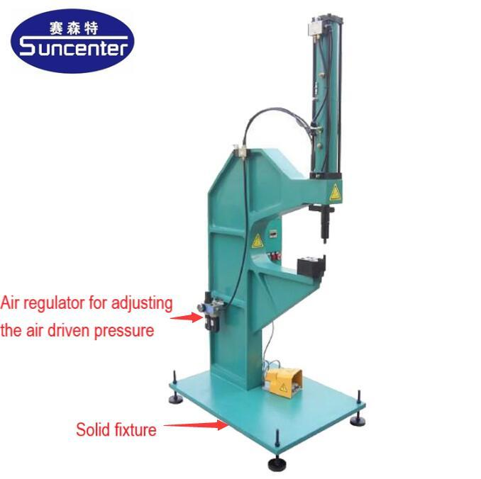 Hydro-pneumatic bolt and nut riveting machine