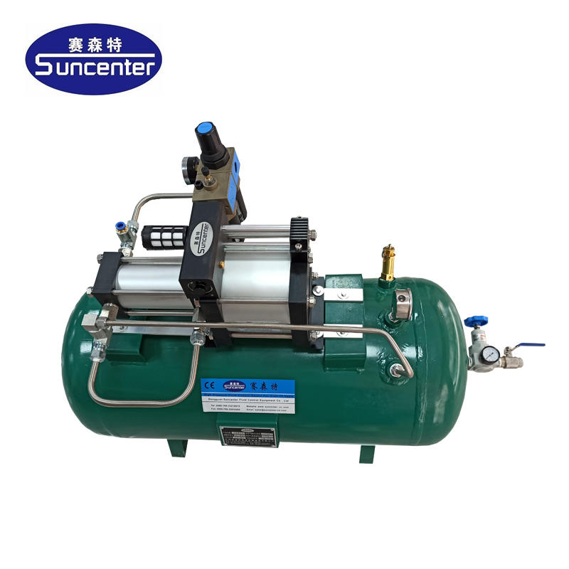 Air pressure amplifier with 40L air tanks