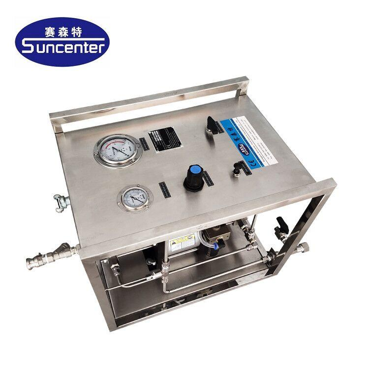 Pneumatic chemical reagent injection pump