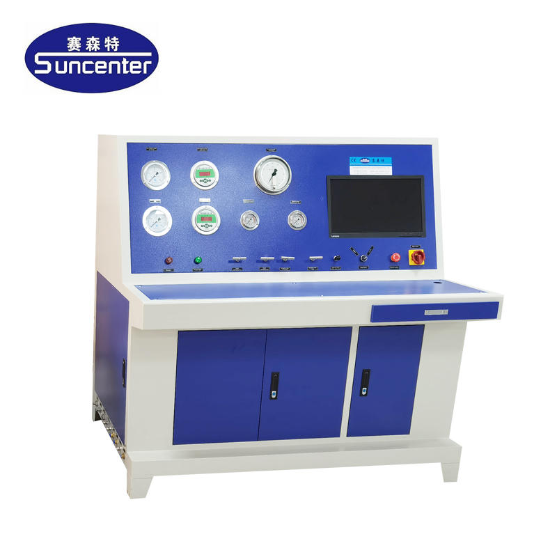 Gas cylinder external measuring testing machine with water jackets