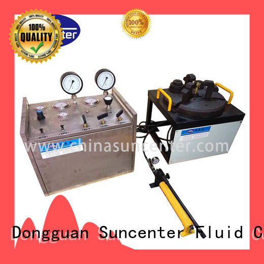 Suncenter industry-leading gas pressure test from manufacturer
