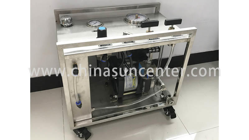 Suncenter long life hydro test pump sensing for metallurgy