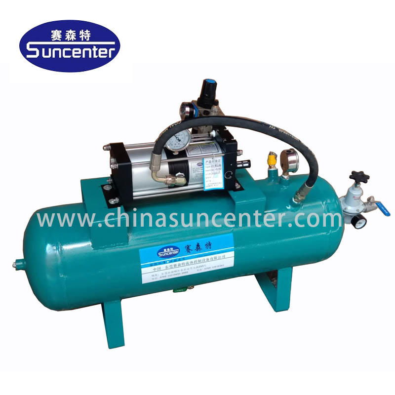 Air pressure booster with 40L air tanks