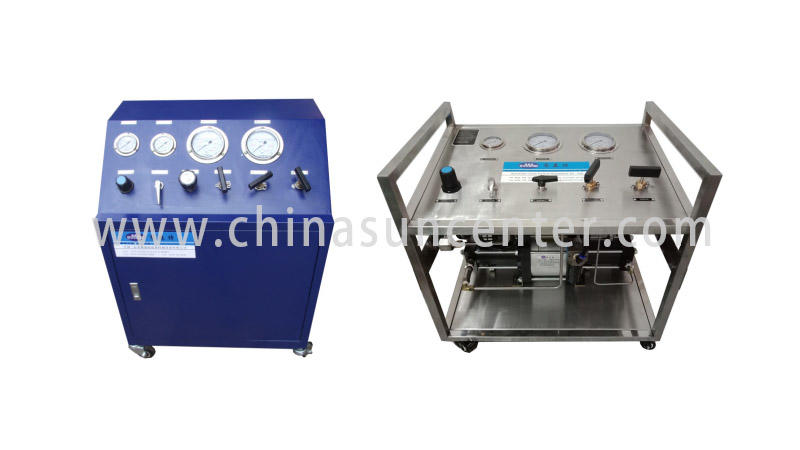 Suncenter bench hydraulic test bench marketing for safety valve calibration