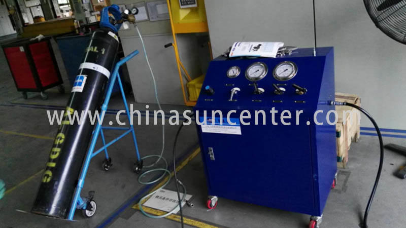 Suncenter durable gas booster compressor test for pressurization