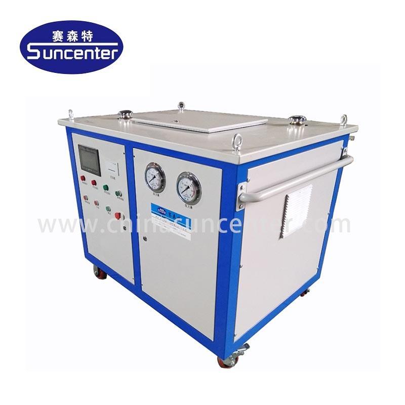 Hydraulic pressure tube expanding machine