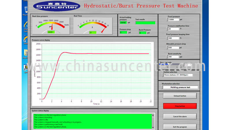 Suncenter automatic pressure test type for flat pressure strength test