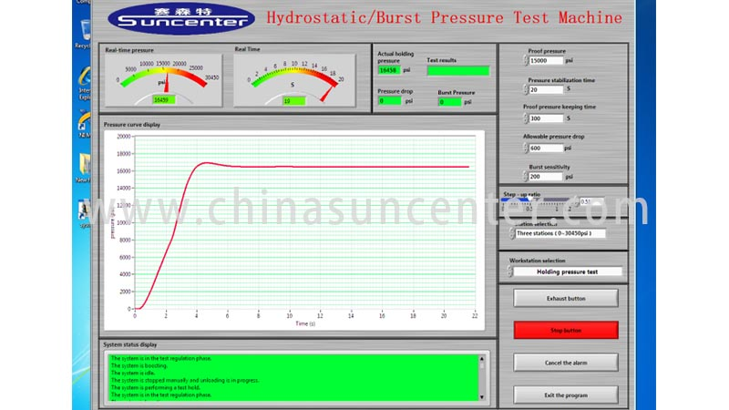 Suncenter energy saving pressure test in China for pressure test-6
