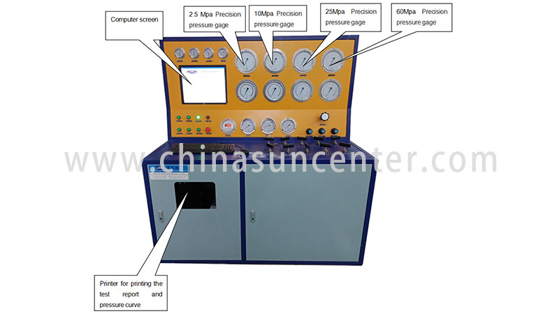 Suncenter model gas pressure test for-sale for factory-2