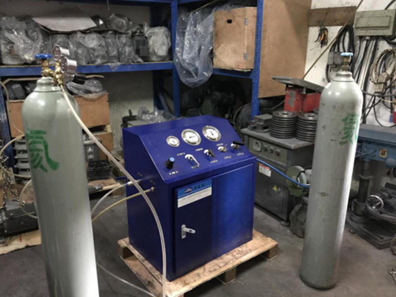 Suncenter DGS series gas booster in Model A blue cabinet