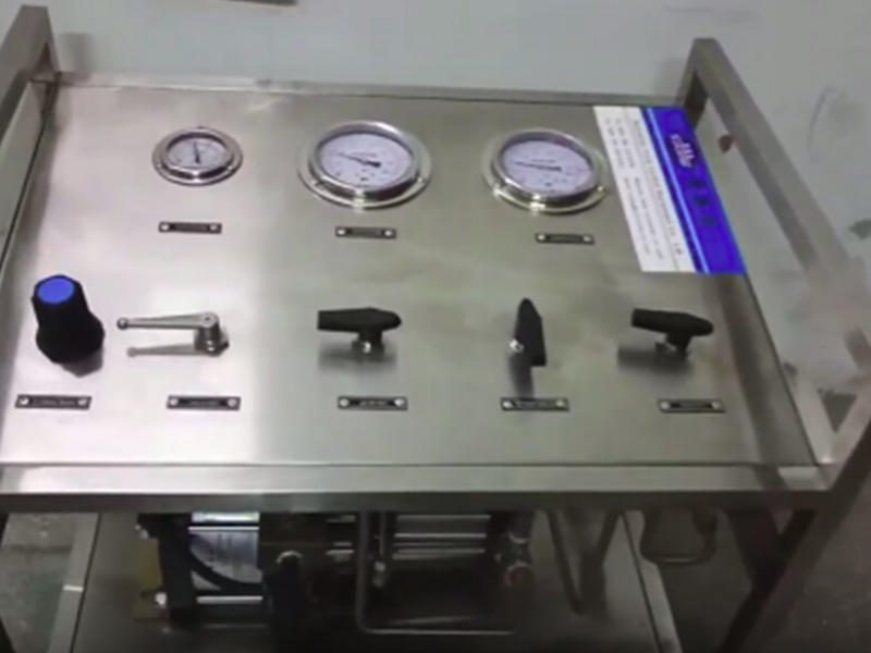 Suncenter gas booster system in model C frame cabinet