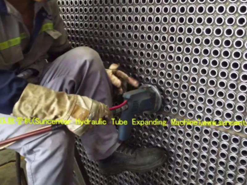 video of Hydraulic pressure tube expanding machine
