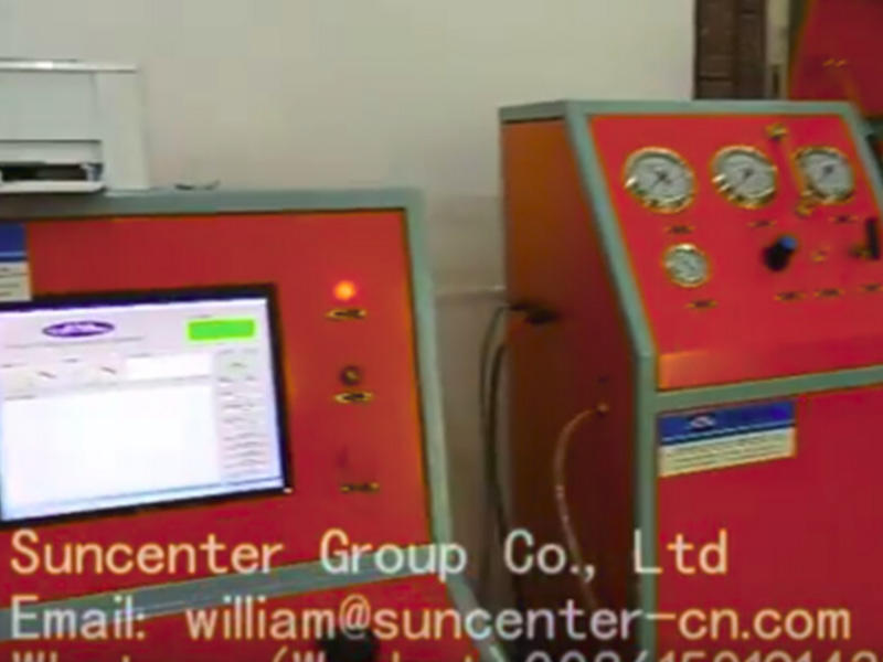 Suncenter burst and hydrostatic test bench