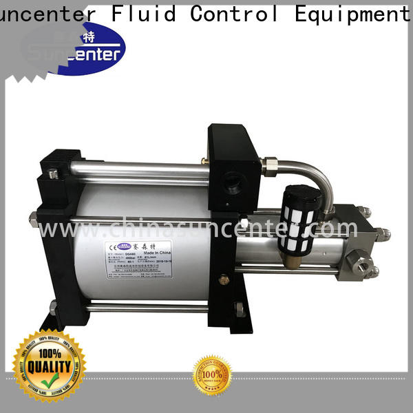 Suncenter pressure gas booster free design for safety valve calibration