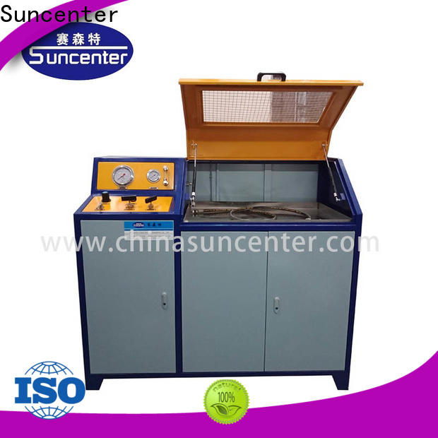 Suncenter hydraulic compression testing machine application for flat pressure strength test