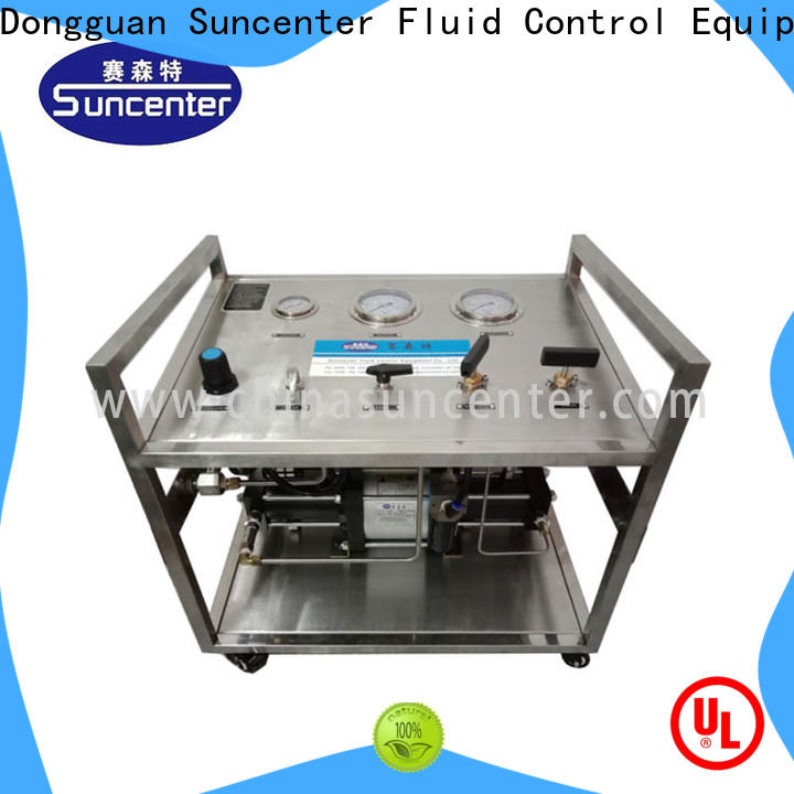 Suncenter pump hydrostatic pressure test for safety valve calibration