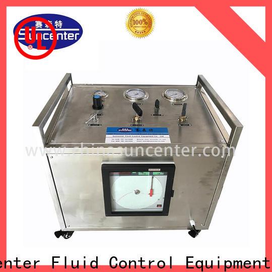 hydrostatic pressure test pressure free design for safety valve calibration