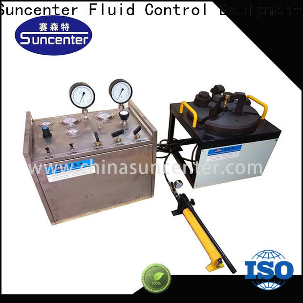 energy saving valve test bench safety type for factory