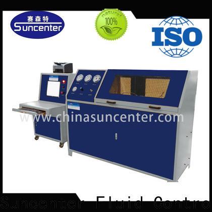 Suncenter test pressure test pump sensing for pressure test