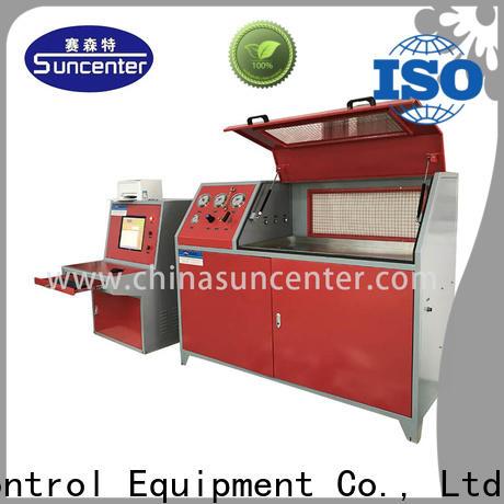 Suncenter machine pressure test pump application for pressure test