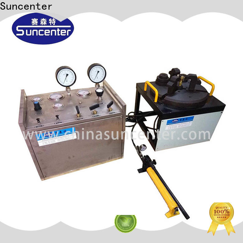 Suncenter bench gas pressure test in china for factory