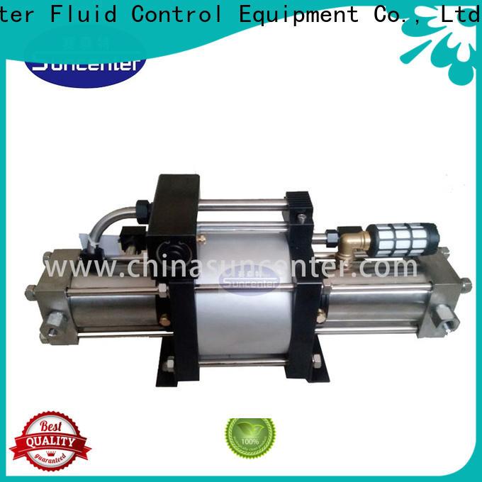 Suncenter outlet pump booster for safety valve calibration