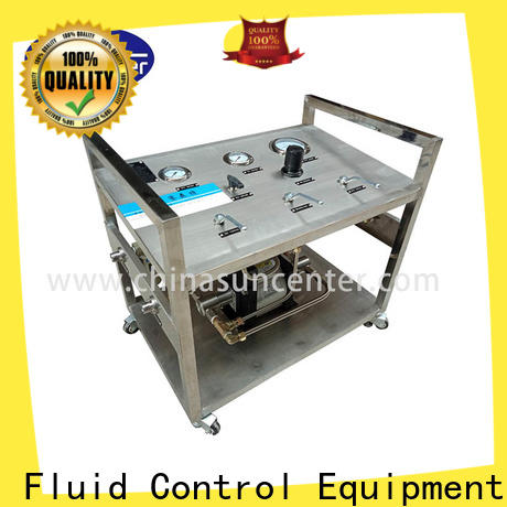 Suncenter pump booster pump system for safety valve calibration