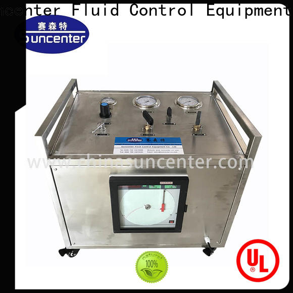 Suncenter booster hydrostatic pressure test from manufacturer for safety valve calibration
