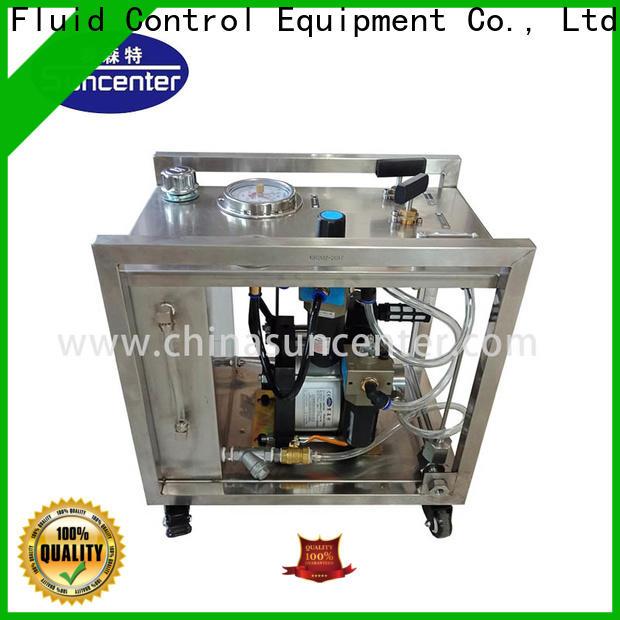 Suncenter pressure hydrostatic test pump sensing for mining