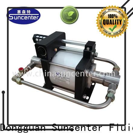 Suncenter gas booster pump system development for pressurization