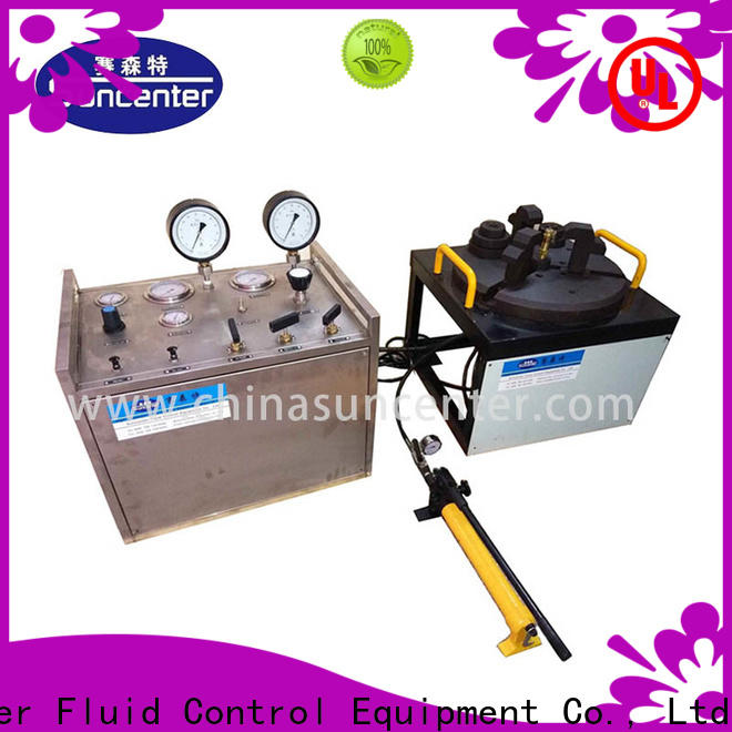 Suncenter test hydrostatic pressure test in china for factory