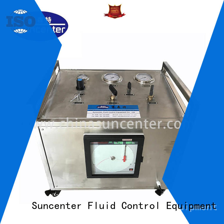 Suncenter gas pressure testing from manufacturer for safety valve calibration