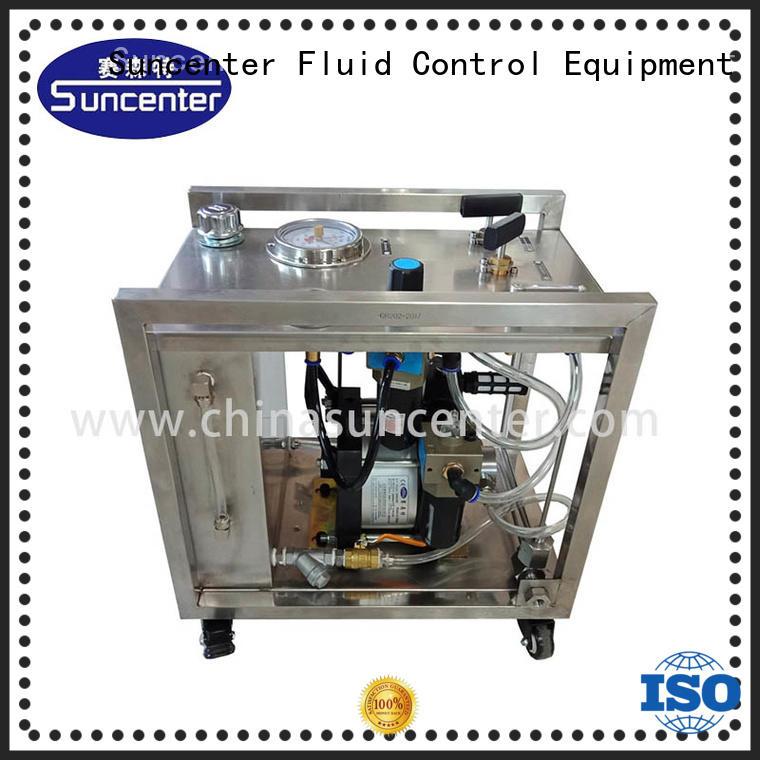 long life hydrostatic testing pressure sensing for metallurgy