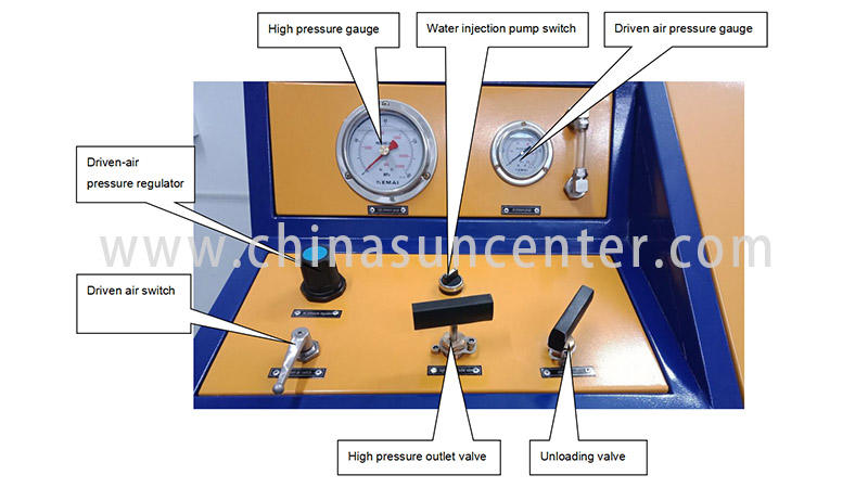 Suncenter easy to use hydrotest pressure application for flat pressure strength test-3