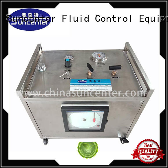 Hydrostatic pressure test pump with round chart recorder