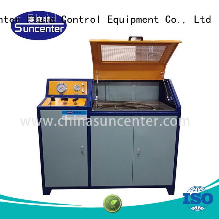 Suncenter brake hydraulic compression testing machine application for flat pressure strength test