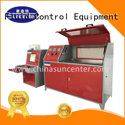 Suncenter machine hydrotest pressure application for pressure test
