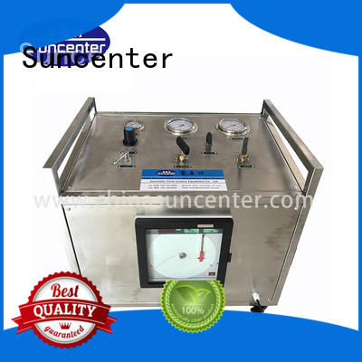 Gas booster pressure test bench