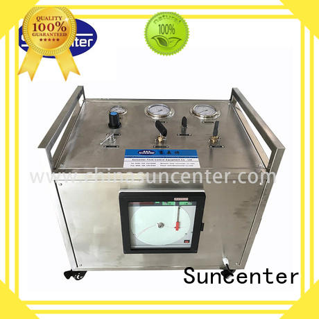 Suncenter high quality hydraulic test bench gas for pressurization