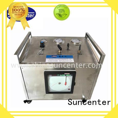 Suncenter high quality hydraulic test bench gas for pressurization
