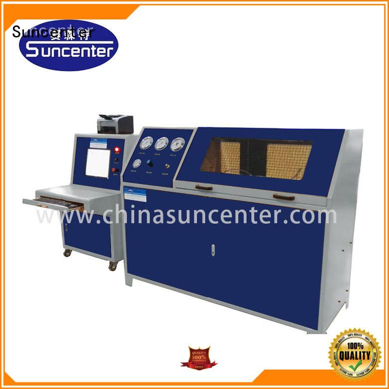 Suncenter air pressure test pump sensing for pressure test