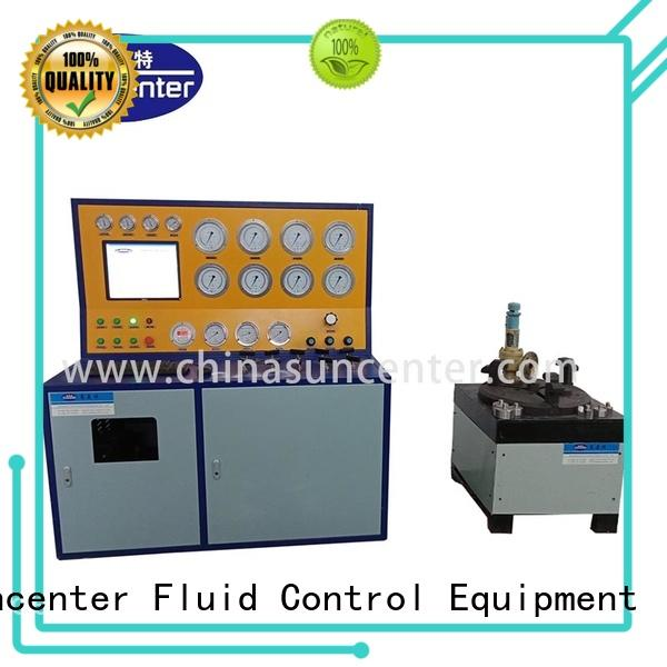 Suncenter control valve test bench free design for industry