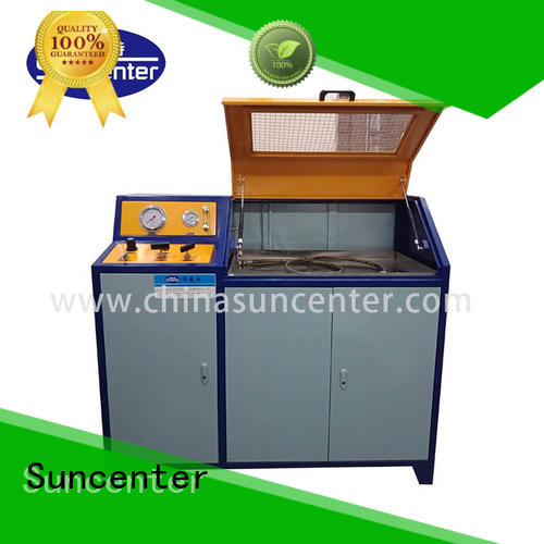 Suncenter automatic hydrotest pressure sensing for pressure test