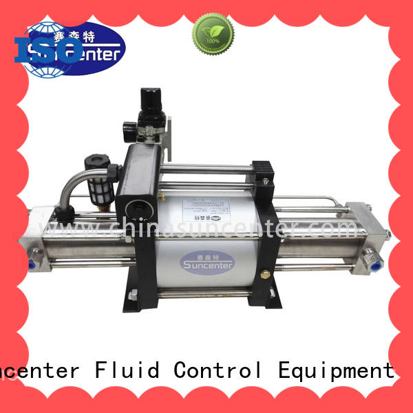 Suncenter safe pressure booster pump outlet for safety valve calibration