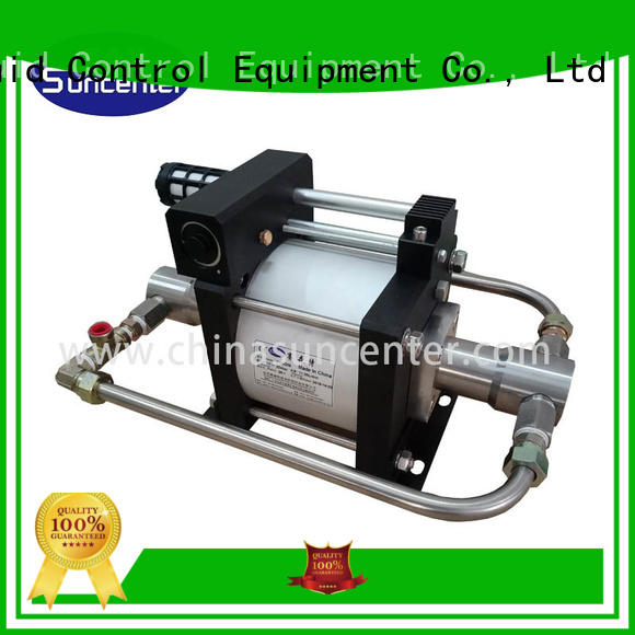 Suncenter booster high pressure booster pump development for safety valve calibration