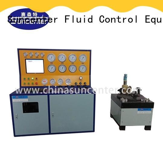 bench valve computer Suncenter Brand air compressor safety valve testing factory