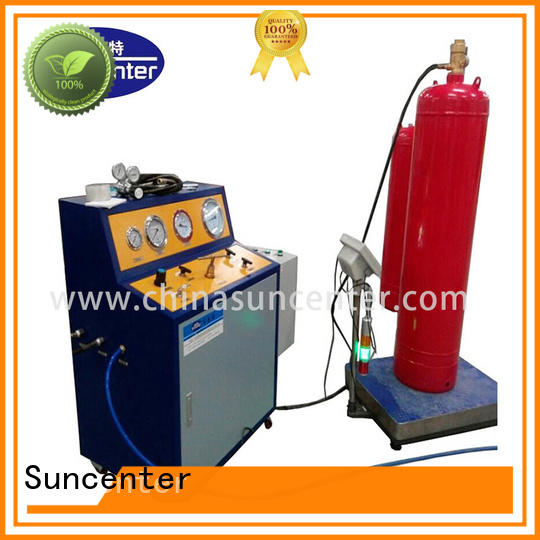Hot extinguisher co2 filling machine fire extinguisher hosepipes filling Suncenter Brand