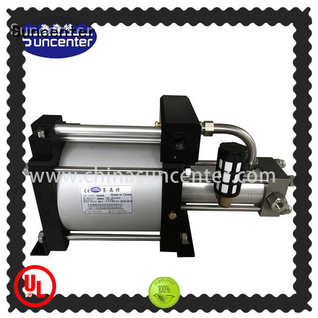 Suncenter oxygen gas booster for safety valve calibration